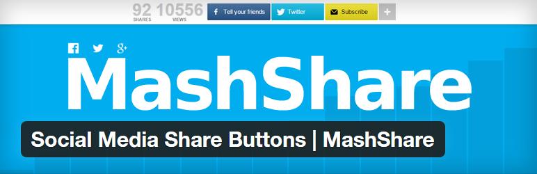 MashShare social media sharing plugin for WordPress