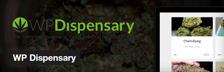 WP Dispensary menu management plugin for WordPress