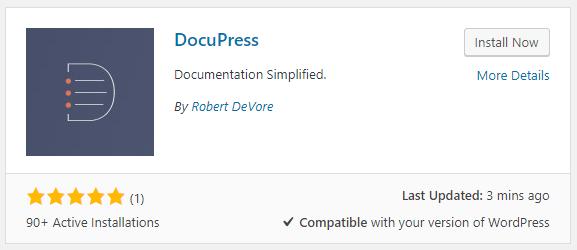 DocuPress - documentation plugin for WordPress