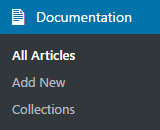 DocuPress in the WordPress admin menu