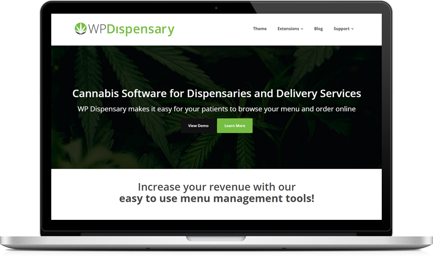 WP Dispensary - Cannabis menu software for WordPress